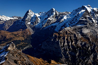 View from Schilthorn Mountain, Swiss Alps