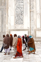 Local Tourists at Taj