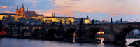 Prague Castle and Charles Bridge at Dusk