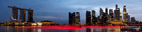 Singapore Skyline Panorama at Twilight