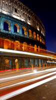 Traffic Trails at Colosseo, Rome