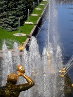 Fountain View from Peterhof Palace