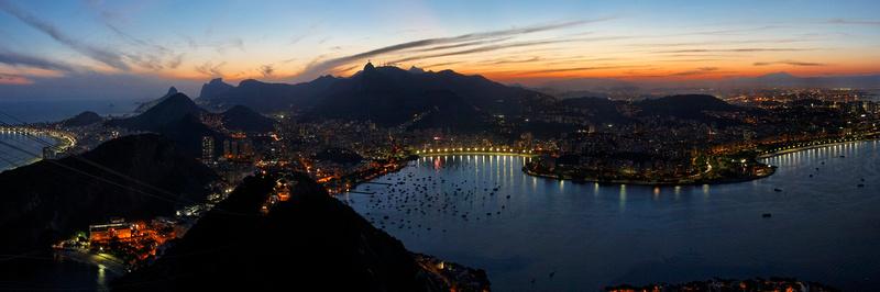 Panoramic View of Rio at Dusk