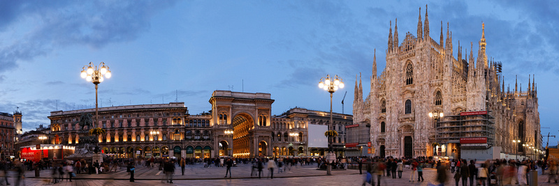 Duomo Piazza and Cathedral, Milan