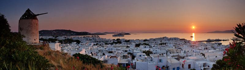 Mykonos Sunset Panorama