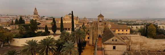 Cordoba Panorama on a Cloudy Day