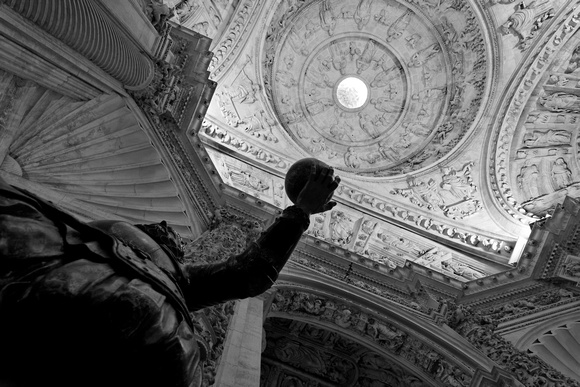 Inside Seville Cathedral (B&W)
