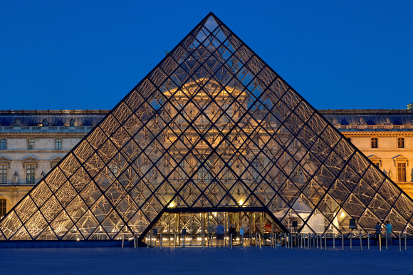 Louvre Museum at Twilight